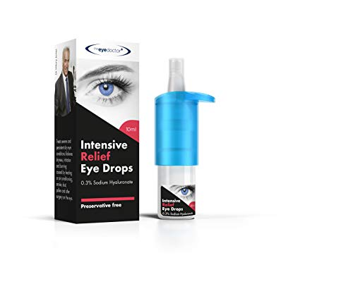 The Eye Doctor, Drops Intense Moisturising Drops for Dry Eyes Relief from Dryness Irritation 10 ml, Intensive