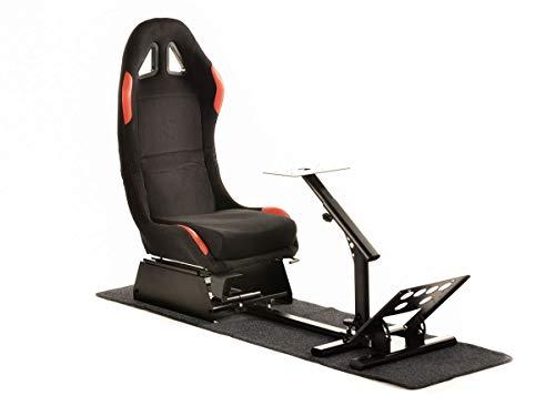 FK-Automotive FK Gamesitz Spielsitz Rennsimulator eGaming Seats Suzuka schwarz/rot mit Teppich FKRSE17903