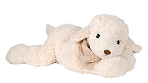 Lashuma Designer Plüschtier Schaf Big Lefty, Weißes Stofftier Lamm, XXL Premium Kuscheltier, Plüschschaf 50 cm