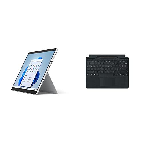Microsoft Surface Pro 8, 13 Zoll 2-in-1 Tablet (Intel Core i5, 8GB RAM, 256GB SSD, Win 11 Home) Platin GrauMicrosoft Surface Pro Signature Keyboard im B&le mit schwarzem Slim Pen 2 Schwarz
