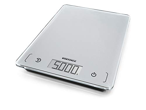 Soehnle 61502 Page Comfort 100 Kitchen Scales, Silver