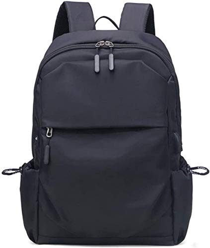 Men's Laptop Backpack,Laptop Backpack, 15.6-Inch Backpack USB Charging Port and Headphone Jack, Business Men and Women Backpack, Durable, Tear-Resistant Outdoor Leisure Black