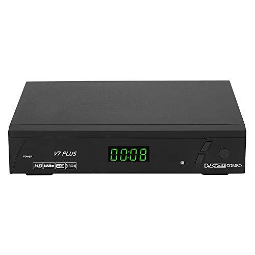Tonysa Ricevitore satellitare TV satellitare, 1080P HD, PAL NTSC ricevitore satellitare per DVB S S 2 DVB T T2 ricezione satellitare   WLAN USB connessione Internet con telecomando a infrarossi