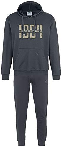 Ahorn Sportswear grote maten joggingpak 1964 Gravel 3 kleuren