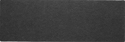 oKu-Tex Küchenläufer, Küchenteppich, einfarbig, Anthrazit, Schwarz, schmal, Robust, Zuschneidbar, rutschfest, Polyamid, 61 x 180 x 0,6 cm