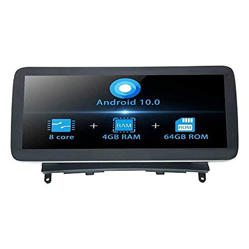 Unidad principal de radio estéreo para automóvil Android 10.0 Navegación GPS para Benz Clase C W204 2007 2008 2009 2010 2011 Reproductor multimedia automático compatible con conexión telefónica SWC WI