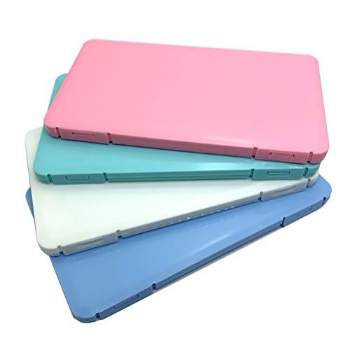 Tianbi 4-Teilige Aufbewahrungsbox für Die Gesichtsbedeckung Tragbarer Behälter für Die Gesichtsbedeckung aus Kunststoff Wiederverwendbarer Aufbewahrungsordner