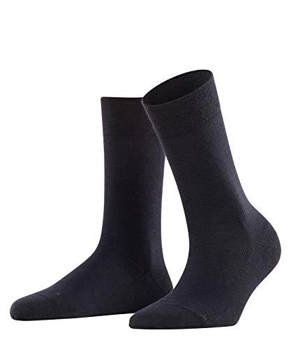 FALKE Damen Socken Sensitive Berlin - Merinowollmischung, 1 Paar, Blau (Dark Navy 6379), Größe: 39-42