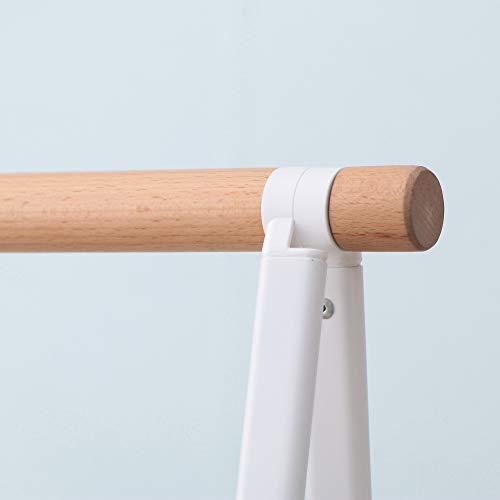 アイリスオーヤマ洗濯物干し物干し室内物干しラックナチュラル幅約95㎝ホワイト白NRMH-950B
