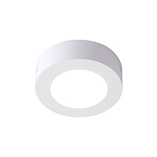Henda Plafón LED Downlight LED Superficie Circular 6W Luz Neutra 4500K
