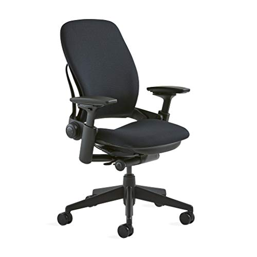 "Steelcase Leap Chair, Black Fabric,FBA_,5"" Cylinder -"