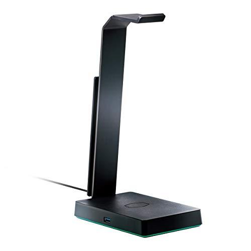 Cooler Master Gs750 Stand Cuffie, Qi Wireless, 2Usb 3.1, Scheda Audio 7.1 Rgb, Nero