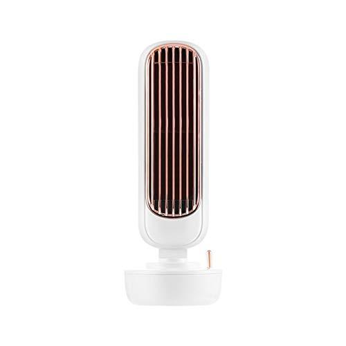 LORIEL Ventiladores de pie portátil, Ventilador de la Torre de humidificación, Carga USB, Velocidad de Tres Vientos, Aerosol Regular, Utilizado para Enfriar y humidificación,Blanco