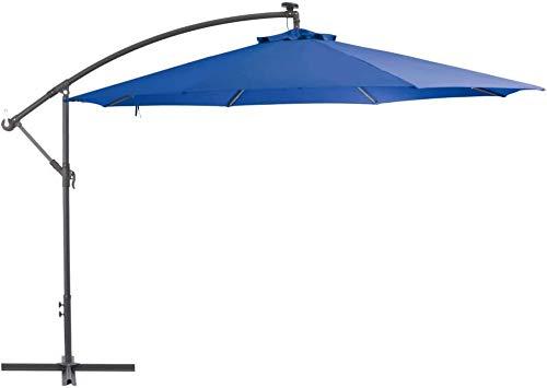 Aluminiumpfosten mit Außen Regenschirme Sonnenschirm Ampelschirme,Blue