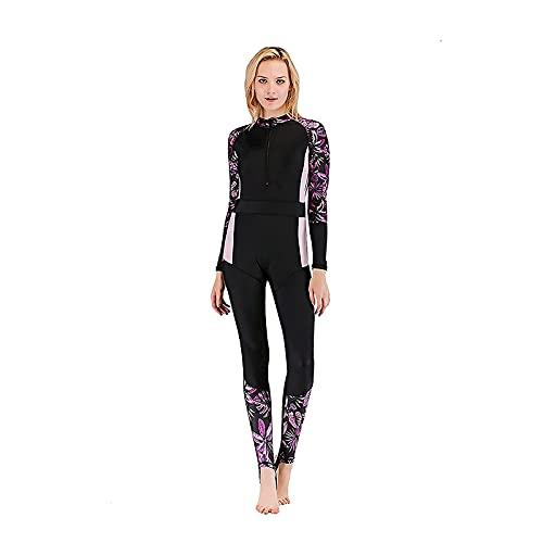 XBSXP Trajes de Buceo, Traje de Neopreno para Mujer, Traje de baño de Neopreno Premium con Cremallera Frontal de 3 mm, Traje de Buceo térmico para Surf, para Nadar en Canoa de Jetski de