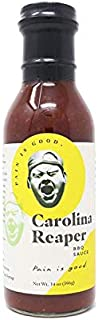 Pain is Good Carolina Reaper BBQ Sauce, 14.0 Ounce