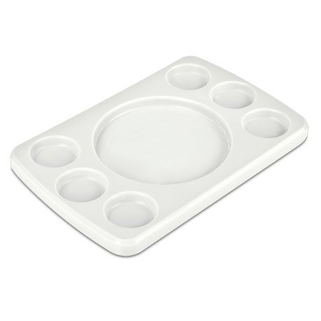 Fricosmos Tabla Rectangular para 6 Salsas Fibra Blanca 300x200x20 mm. - 434418
