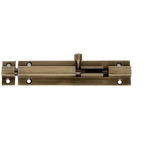 1 Pcs Heavy Duty Tower Bolt Door Slide Latch Lock Barrel Bolt Durable Slide Bolt for Bathroom Toilet Shed Bedroom (Bronze)