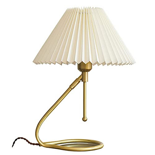 Lámpara Escritorio Plieged retro de la mesa de doble propósito lámpara de mesa nórdica de estudio japonés lámpara de noche lámpara de noche creativa lámpara de pared cobre e27 Lámparas Mesa