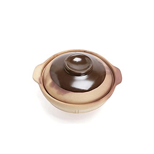 Lazxcnvbg sarten Wok, Claypot Antiguo Claypot Hogar Soquio Soup Sow Pot, Estufa de Gas Special Puede ser Quemado en seco a 800 Grados sin agrietamiento (18 * 7 cm)