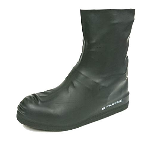 ワイルドウィング(WILDWING)シューズカバー(ハイカット)ゴム製Mサイズ伸びが良く丈夫!ブーツ・スニーカーに対応【完全防水】《滑りにくいレインシューズ(ブーツ)カバー》キャンプや釣り・野外フェスに