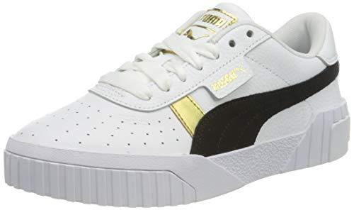 PUMA Cali Varsity WnS, Zapatillas Mujer, Blanco White Black Team Gold, 42 EU