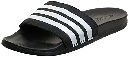 adidas Adilette Comfort Scarpe da Spiaggia e Piscina Uomo, Nero (Negbás/Ftwbla 000), 42 EU