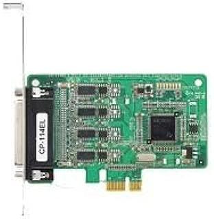 MOXA CP-114EL - 4 Port PCIe Board, NO CABLE, RS-232/422/485, Low Profile