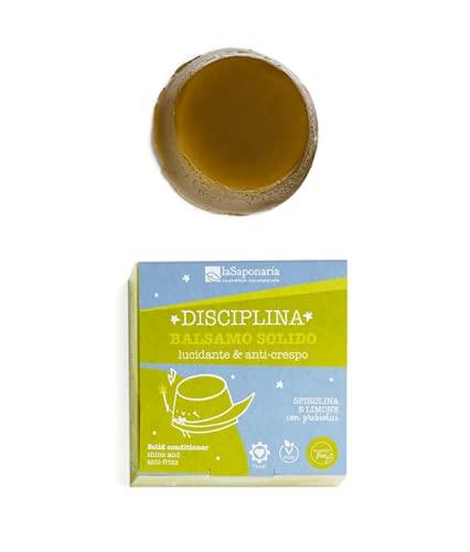 la saponaria Balsamo Solido Biologico Lucidante e Anti-Crespo DISCIPLINA 40 g