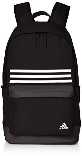 adidas CLAS BP 3S Pock Backpack, Unisex Adulto, Black/White, M
