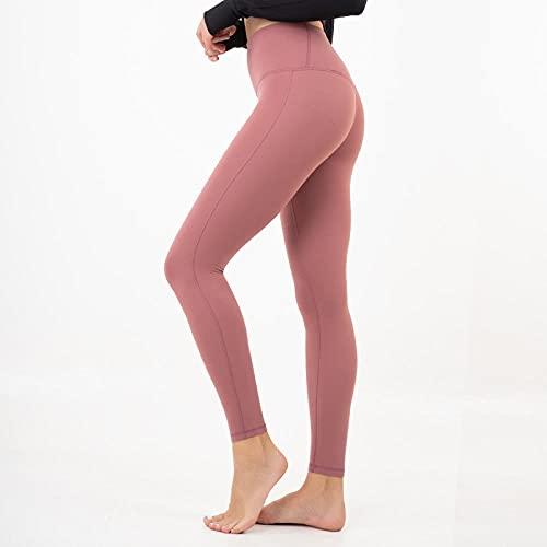 WUHUI Pantaloni da Yoga, Pantaloni Sportivi Attillati da Fitness Elasticizzati da Esterno Senza Tracce di Abbigliamento da Yoga,-Red_S, Pantaloni Yoga Donna Leggings Push Up Sportivi