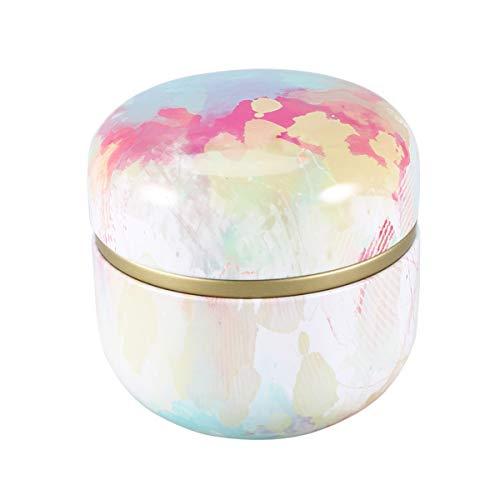 UPKOCH boîte de feuilles de thé pot portable rond de stockage de fer blanc d'étanchéité peut boîte de bonbons couvercle peut pour aromatisant épice feuille de thé herbe bougie diy boîtes (style 6)