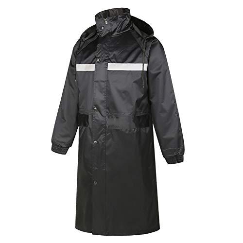 ARBLOVE Oxford Regenponcho Schwarz Unisex Reflektierend Band Atmungsaktiv Regen Poncho tragbarer Leicht Regenmantel Wiederverwendbar