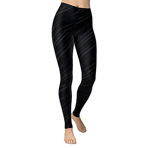 YANFANG Pantalones de chándal Leggings de Cintura Alta con Estampado de Camuflaje de Moda Sexy para Mujer Pantalones de Yoga Delgados,3-Negro,M