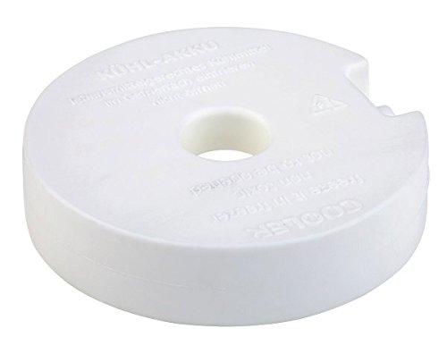 APS Kühlakku, Kühlelement, weißer, runder Kunststoffkühler, 10,5 x 10,5 cm, gefüllt mit Kühlflüssigkeit, nicht giftig, einfach im Gefrierfach einfrieren, unbegrenzt wiederverwendbar