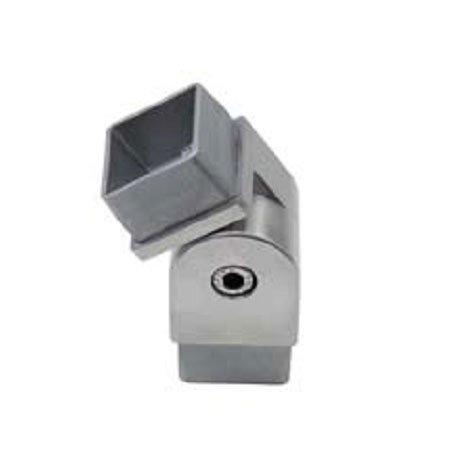 Nœud inox AISI 316 pour tube carré, Reg.90°-270°