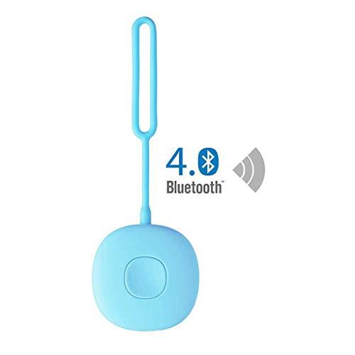 ZQQ Alarma Personal Inteligente, Bluetooth App 120DB Grabación De Posicionamiento De Alarma De Seguridad para Mujeres De Autodefensa De Emergencia Ancianos Y Niños,Azul