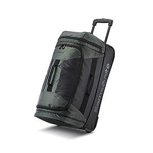 Samsonite Andante 2 Wheeled Rolling Duffel Bag, Moss Green/Black, 22-Inch