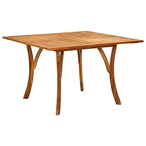 vidaXL Akazienholz Massiv Gartentisch Rustikal Holztisch Esstisch Gartenmöbel Tisch Balkontisch Terrassentisch Massivholztisch 120x120x75cm