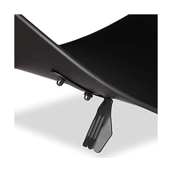Relaxdays Cesta para Leña Moderna con Asa, Acero, Negro, 40 x 38 x 48 cm