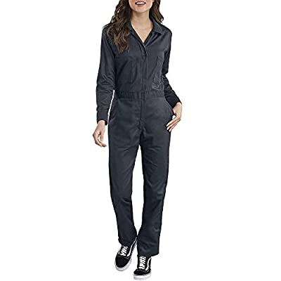 Dickies Women's Long Sleeve Cotton Twill Coverall, Dark Navy, Extra Large
