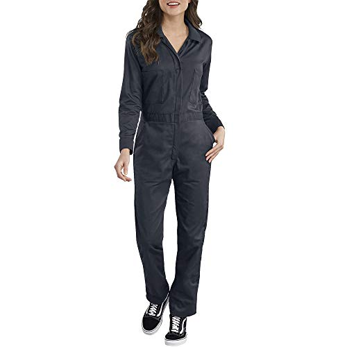 Dickies Women's Long Sleeve Cotton Twill Coverall, Dark Navy, Extra Small