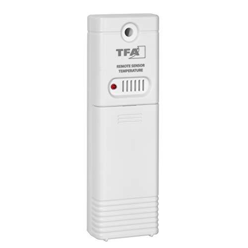 TFA Dostmann Temperatursender, 30.3243.02, Ersatzsender, Zusatzsender, weiß