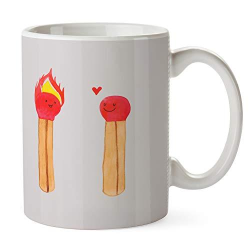 Mr. & Mrs. Panda theekopje, koffiekopje, beker Wedstrijden - Kleur Grijze Pastel
