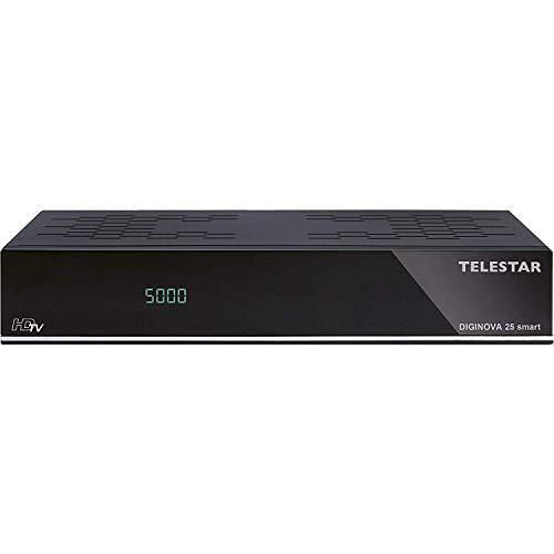 TELESTAR DIGINOVA 25 smart HD Receiver (DVB-S, DVB-S2, DVB-T2 HD, DVB-C, Alexa, PVR Ready, HDMI, USB, CI+) schwarz