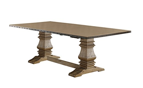 Homelegance Veltry Rectangular Double Pedestal Dining Table