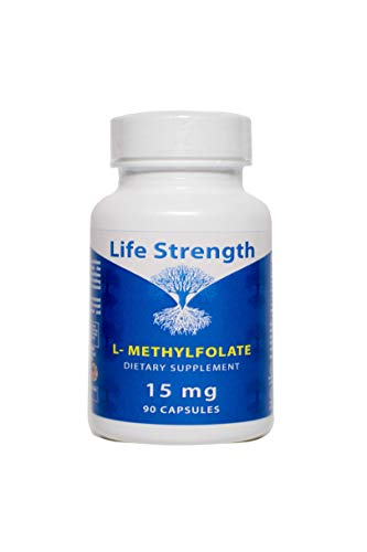 Price comparison product image Life Strength 15 MG L-Methylfolate Maximum Potency Bioavailability 5-MTHF Methyl Folate Immunity Boost 90 Capsules (15 mg 90ct)