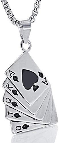 NC110 Collar con Colgante de póquer a la Moda para Mujeres y Hombres, Collar al RAS de Espadas para Accesorios de joyería de Hip Hop YUAHJIGE