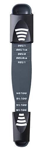 アーネスト 計量スプーン (9種類の計量がこの1本でできる) 大さじ 小さじ (計量9スプーン) 大手飲食店愛用ブランド ブラック A-77384