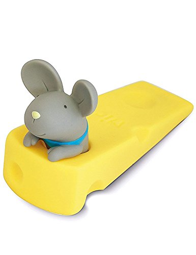 DomeStar Cute Mouse Stopper, Gray Mouse Door Stop Decorative Animal Doorstop Door Wedge